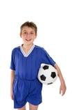 男孩足球统一 免版税库存照片