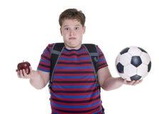 男孩足球 免版税库存图片