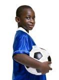 男孩足球 免版税图库摄影