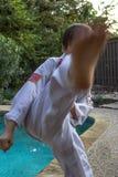 男孩跆拳道专家 库存图片
