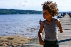 男孩跳舞 图库摄影
