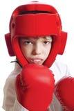 男孩运动员 免版税库存图片