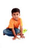 男孩逗人喜爱的印地安人 库存照片