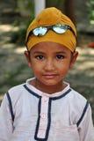 男孩逗人喜爱的锡克教徒 免版税库存照片