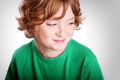 男孩逗人喜爱的年轻人 免版税图库摄影