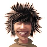 男孩通配的发型 免版税库存照片