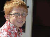 男孩雀斑微笑 免版税库存图片