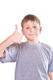 男孩青少年的显示冷却现有量符号 库存图片