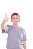 男孩青少年的显示冷却现有量符号 免版税库存图片