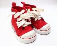 男孩鞋子 免版税库存图片