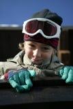 男孩风镜滑雪佩带 免版税图库摄影