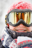 男孩风镜滑雪佩带 库存照片