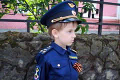 男孩飞行员 图库摄影