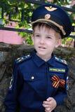 男孩飞行员 库存照片