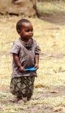 男孩马塞语玛拉画象  图库摄影