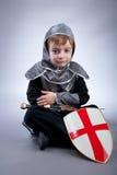 男孩骑士 免版税库存图片