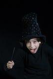 男孩魔术鞭子 库存照片