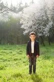 男孩,春天,爱,绽放,戏剧,乐趣,好,孩子,时尚,孩子 库存照片