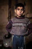 年轻男孩,阿勒颇。 库存图片