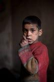 年轻男孩,阿勒颇,叙利亚。 免版税库存图片