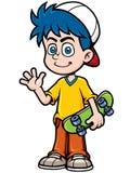 男孩滑冰 免版税库存照片