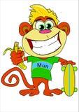 男孩猴子kidscartoon的密林字符 免版税库存图片