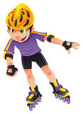 男孩直排轮式溜冰鞋 库存图片