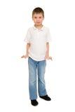 男孩画象在被隔绝的演播室 免版税库存照片