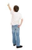 男孩画象在被隔绝的演播室 免版税库存图片