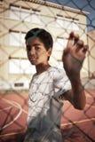 年轻男孩画象  图库摄影
