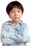 年轻男孩画象  免版税库存图片