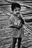 男孩画象 图库摄影