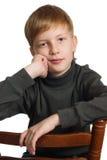 男孩画象 免版税图库摄影