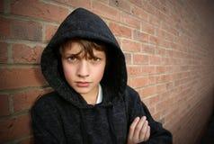 男孩戴头巾顶层 免版税图库摄影