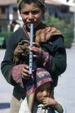 男孩cuzco 免版税库存图片