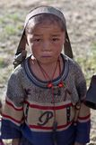 男孩dolpo尼泊尔藏语 库存照片