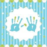 男孩handprint 库存照片