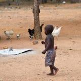 男孩himba纳米比亚 库存图片