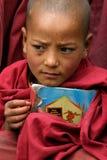 男孩ladakh修道院 库存照片