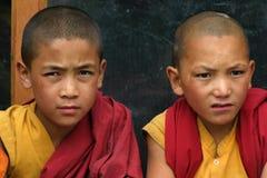 男孩ladakh修道院 库存图片