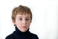 男孩littl纵向 免版税库存照片
