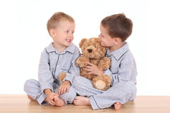 男孩pijama 免版税图库摄影