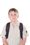 男小学生的纵向 库存照片