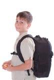男小学生的纵向 免版税图库摄影