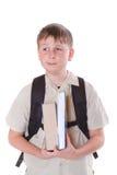 男小学生的纵向 免版税库存图片