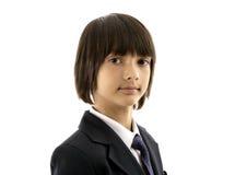 男小学生的画象 库存图片
