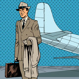 男性乘客空气旅客商务旅行 库存例证