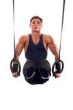 男性体操运动员 库存图片