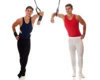 男性体操运动员 免版税库存图片