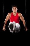 男性体操运动员 免版税库存照片